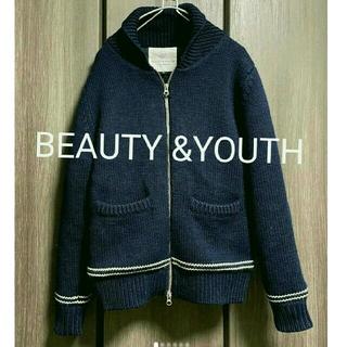 ビューティアンドユースユナイテッドアローズ(BEAUTY&YOUTH UNITED ARROWS)のBEAUTY &YOUTH  Wool 100% 綿入り  サイズS 送料無料(カーディガン)