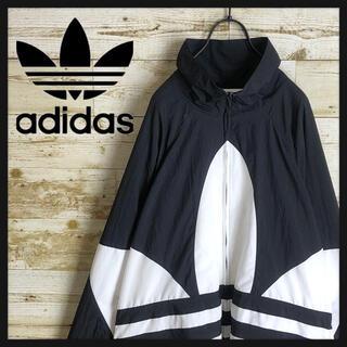 adidas - adidas アディダス ナイロン ジャケット ビックロゴ 刺繍 人気デザイン