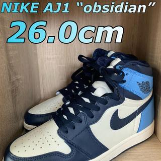 ナイキ(NIKE)のNike Air Jordan1 Retro High Obsidian UNC(スニーカー)