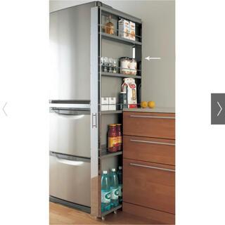 dinos - ステンレス製キッチンすき間収納ワゴン ハイタイプ(高さ164cm)幅10cm