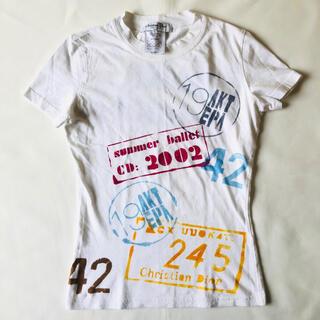 クリスチャンディオール(Christian Dior)のChristian Dior 2002 ADDICT ロゴ ガリアーノ期(カットソー(半袖/袖なし))