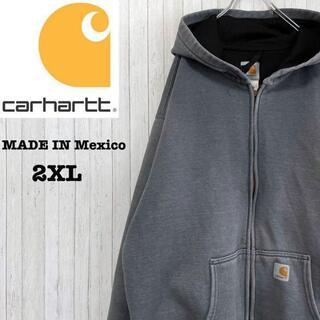 カーハート(carhartt)のカーハート メキシコ製 パーカー スウェット ビッグサイズ グレー 2XL(パーカー)