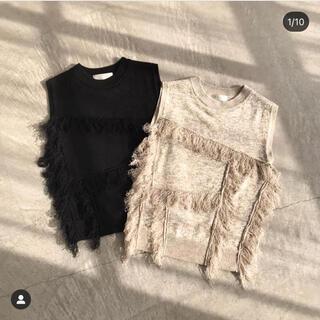 Mila Owen - RIELLE riche Fringe Knit Pullover(Black)