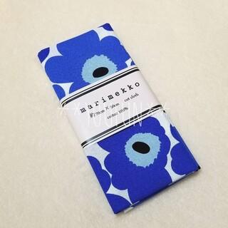 マリメッコ(marimekko)の新品☆ マリメッコ 青 ミニウニッコ 約70cm×50cm カットクロス 布(生地/糸)
