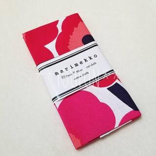 マリメッコ(marimekko)の新品☆ マリメッコ 赤 ピエニウニッコ 約70cm×50cm カットクロス 布(生地/糸)
