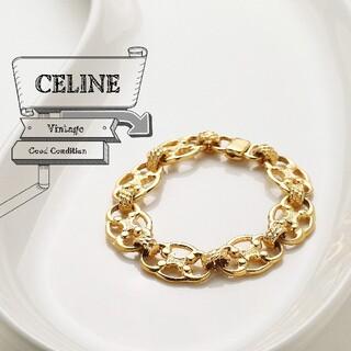 セリーヌ(celine)の美品 CELINE セリーヌ ヴィンテージ ブラゾン リンク ブレスレット(ブレスレット/バングル)
