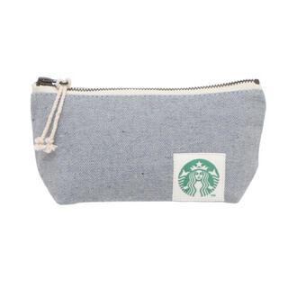 Starbucks Coffee - スターバックス アップサイクルコットン ポーチ デニムブルー