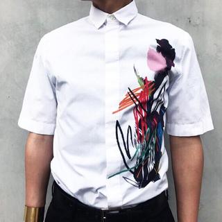 ディオールオム(DIOR HOMME)のdior homme 15ss フラワーペイントシャツ(シャツ)
