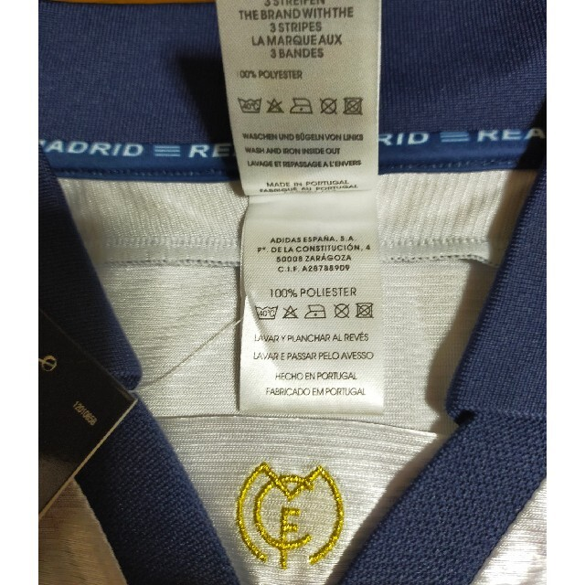 adidas(アディダス)の【値下げセール中】レアルマドリード ロベルトカルロス 半袖ユニフォーム スポーツ/アウトドアのサッカー/フットサル(ウェア)の商品写真