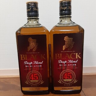 ニッカウヰスキー - ブラックニッカ ディープブレンド 旧ボトル 二本セット