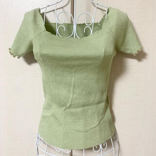 リリーブラウン(Lily Brown)の一度着用❗️2wayリブニット⭐︎リリーブラウン lily brown(シャツ/ブラウス(半袖/袖なし))