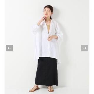 プラージュ(Plage)のpIage Linen Poncho シャツ(シャツ)