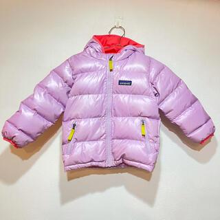 パタゴニア(patagonia)のパタゴニア ダウン 3T  ピンク フード付き(ジャケット/上着)