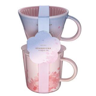 スターバックスコーヒー(Starbucks Coffee)の台湾 スターバックス 21桜 ドリッパーセット(グラス/カップ)