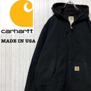 カーハート(carhartt)のカーハート USA製 アクティブパーカー ダックジャケット ブラック M(ブルゾン)