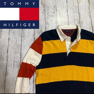トミーヒルフィガー(TOMMY HILFIGER)の【TOMMY HILFIGER】トミーヒルフィガー マルチカラー 長袖ポロシャツ(ポロシャツ)