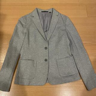 ユニクロ(UNIQLO)のUNIQLO ソフトジャージージャケット グレー(テーラードジャケット)