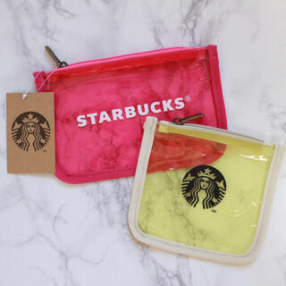 Starbucks Coffee - 【新品】台湾スターバックス クリアポーチ 2点セット サイレン 海外限定