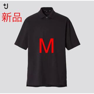UNIQLO - 新品 ユニクロ +J リラックスフィットポロシャツ(半袖)ブラック Mサイズ