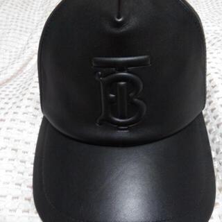 バーバリー(BURBERRY)のBURBURRY BT ロゴ レザー キャップ M バーバリー リカルドティッシ(キャップ)
