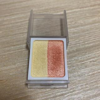 ムジルシリョウヒン(MUJI (無印良品))の無印良品 アイシャドウ2色タイプ イエローオレンジ(アイシャドウ)
