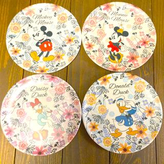 ディズニー(Disney)のディズニー バンブーファイバープレート 4個セット(食器)