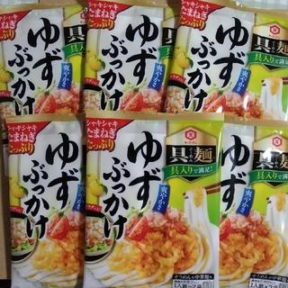 キッコーマン(キッコーマン)のキッコーマン 具麺 ゆずぶっかけ 6袋 うどんつゆ 麺つゆ ランチ(レトルト食品)