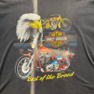Harley Davidson - 80s ハーレービンテージtシャツ
