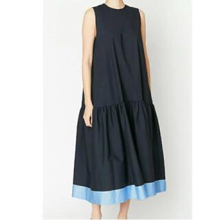 バーニーズニューヨーク(BARNEYS NEW YORK)のyokochan Hem Flared Cotton Dress 新品 レア品(ひざ丈ワンピース)