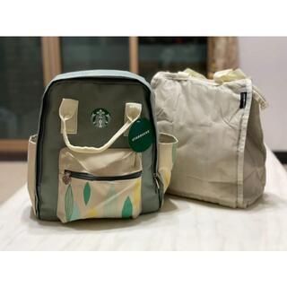 スターバックスコーヒー(Starbucks Coffee)のスターバックス 海外台湾 保冷バッグ付きリュック バックパック(リュック/バックパック)