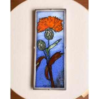 アラビア(ARABIA)のYellow Flower 1993年 陶板画 ヘルヤ アラビア(置物)