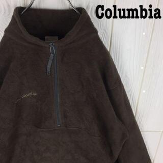 コロンビア(Columbia)のコロンビア ハーフジップ 刺繍ワンポイントロゴ フリースジャケットブルゾン90s(ブルゾン)