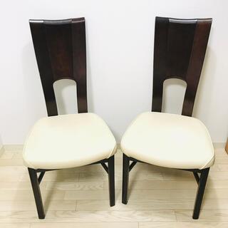 カリモクカグ(カリモク家具)の【美品】カリモク ダイニングチェア 2脚セット(ダイニングチェア)