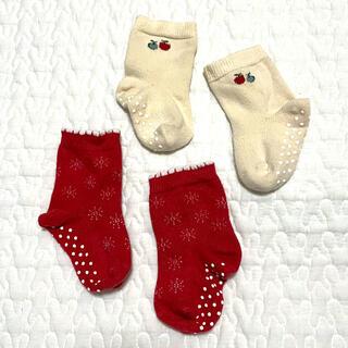 ユニクロ(UNIQLO)のユニクロ ベビー靴下 2足セット 9-12 女の子(靴下/タイツ)