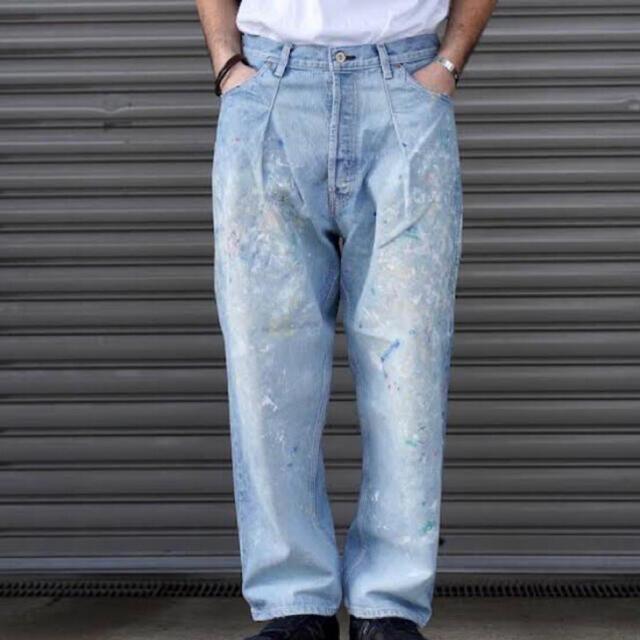 COMOLI(コモリ)のHERILL 15OZ DENIM TACK SPLASH 4PK サイズ2 メンズのパンツ(デニム/ジーンズ)の商品写真