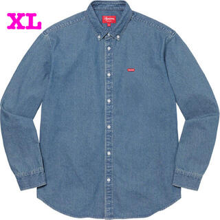 Supreme - Supreme Small Box Twill Shirt Denim
