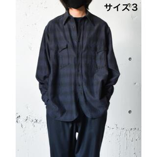 COMOLI - COMOLI(コモリ) ウールシルク ワークシャツ サイズ3 21aw