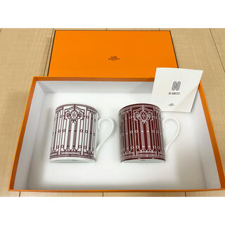 エルメス(Hermes)の未使用品 HERMES エルメス アッシュデコ Hデコ ペア マグカップ(グラス/カップ)