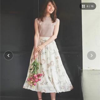 Noela ノエラ 3D刺繍スカート オフホワイト