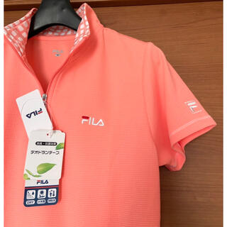 フィラ(FILA)の新品 FILA ハーフジップ  Tシャツ 半袖 ゴルフ テニス スポーツウェア(ウエア)