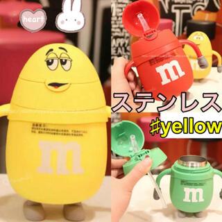 【m&m's】エムアンドエムズ ストローマグ ベビーマグ ステンレス 韓国子供服(水筒)