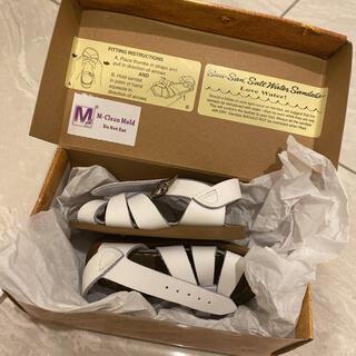 コドモビームス(こどもビームス)のsaltwater キッズ ホワイト 12センチ(サンダル)