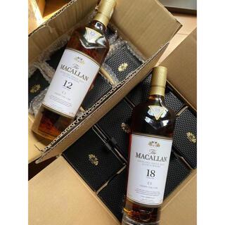 サントリー(サントリー)のマッカラン18年6本 とマッカラン12年6本 箱付き(ウイスキー)