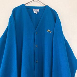 LACOSTE - 《極美品》vintage IZOD ラコステ カーディガン ブルー USA製