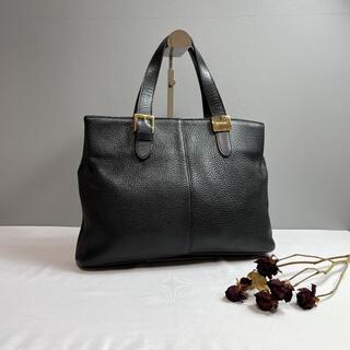 BURBERRY - 【美品】バーバリー ハンドバッグ ノバチェック シボレザー 黒 ゴールド金具