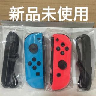 Nintendo Switch - Switch ジョイコン ネオンレッド、ネオンブルー、ストラップ