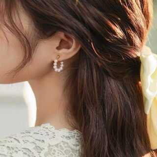 イエナ(IENA)の#979 import : loop pearl pierce S925(ピアス)