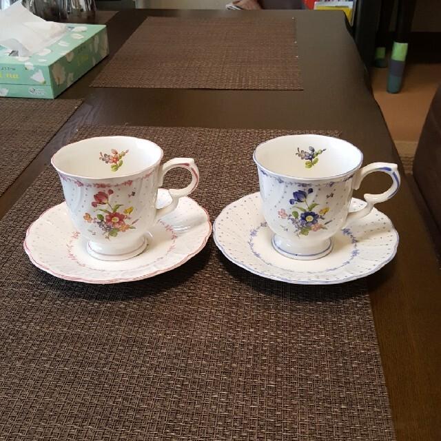 NIKKO(ニッコー)のNIKKO NIKKO  ニッコー ペア コーヒーカップ&ソーサー  インテリア/住まい/日用品のキッチン/食器(グラス/カップ)の商品写真