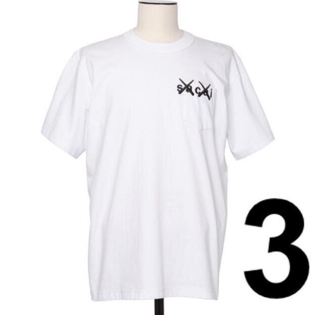 sacai(サカイ)のサイズ 3 sacai x KAWS Embroidery Tシャツ メンズのトップス(Tシャツ/カットソー(半袖/袖なし))の商品写真