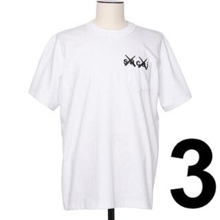 sacai - サイズ 3 sacai x KAWS Embroidery Tシャツ